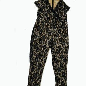 Black Lace overlay jumpsuit